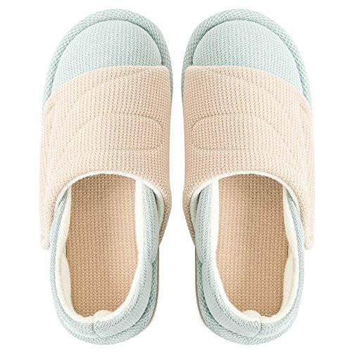 New Confinement Schuhe Home Slipper weibliche schwangere Frauen postpartale dünne Abschnitt rutschfeste weiche Boden atmungsaktive Tasche mit Baumwollschuhen, Beige, 37 / 38EU