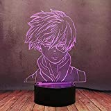 ZWWZ My Hero Academia, Luz de Noche de Estatua de 3D Anime, Niños Dormitorio Decoración lámpara de Mesa de Nocturna para Navidad/cumpleaños Regalo