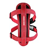 EzyDog Chest Plate Harness - Dog Vest Harness, Red, Small