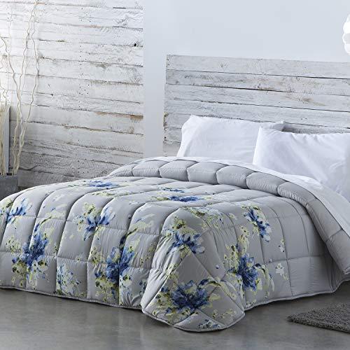 Barceló Hogar - ❤️ Edredón Comforter Reversible Melinda, Edredón Estampado de 350 gr en Color Perla, Medida 235x270, Edredón Nórdico de Otoño-Invierno para Cama 135