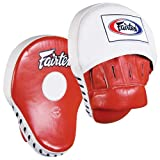 Fairtex Contoured Punch Mitts, Red/White mma gloves Nov, 2020