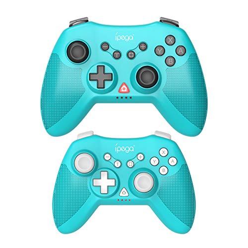 Fesjoy PG-SW019 - Mando a distancia inalámbrico para videojuegos con giroscopio de 6 ejes, doble motor, compatible con N · S PS3 Android, PC, 2 unidades, edición para padres e hijos, color azul