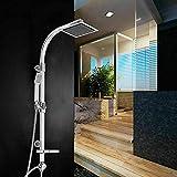 Duschset Regendusche Duscharmatur Duschsystem komplett Edelstahl Duschkopf Set mit Handbraus