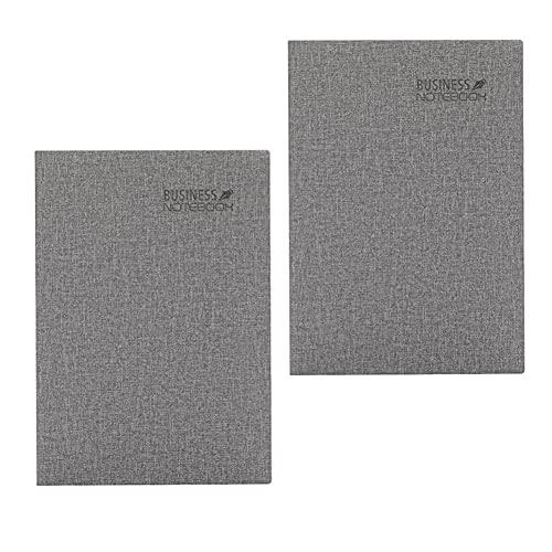 FACHAI Paquete de 2 cuadernos A5, tapa dura de lino, cuaderno con marcadores, 200 páginas, páginas de 80 g/m², 14,5 x 21 cm