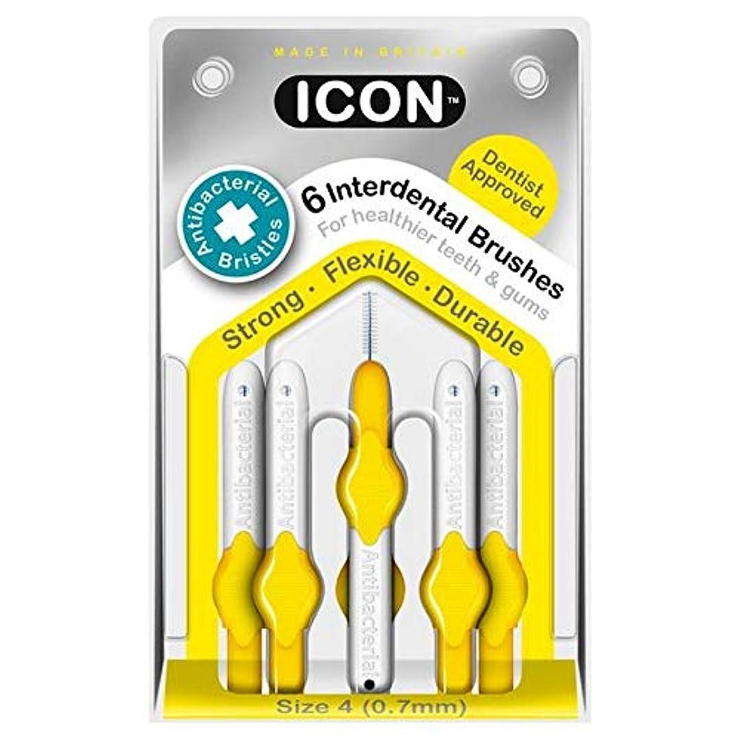 ナサニエル区上に築きますいわゆる[Icon ] アイコンの歯間には、パックあたり0.7ミリメートル6ブラシ - Icon Interdental Brushes 0.7mm 6 per pack [並行輸入品]