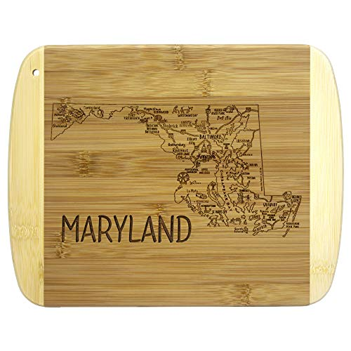 Totally Bamboo A Slice of Life Maryland Bamboo Serving and Cutting Board, 11' x 8-3/4'