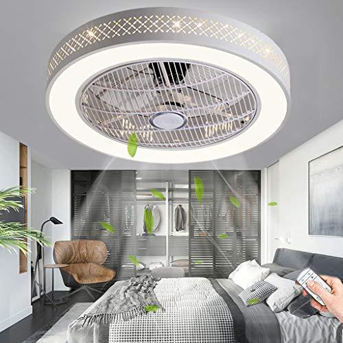 Ventilador De Techo Con Iluminación LED 80W Luz De Techo Regulable Con Control Remoto Lámpara De Techo Moderna Ventilador Dormitorio Sala De Estar Comedor Habitación Infantil Luces Colgantes (B)