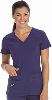 Med Couture Activate Women's V-Neck Refined Sport Knit Scrub Top