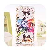 Funda para Nokia Lumia N 950650925520 X 535930640540635 950X Funda de teléfono de piel sintética con tapa y mariposas pint-Color Butterfly-N950