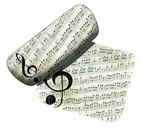 Spoontiques Eyeglass Case, Music Lover, with Lens Cloth