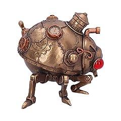 Nemesis Now Steampunk Steam Bug Modified Beetle Ladybird Ornament, Polyresin, Bronze, 20cm #3