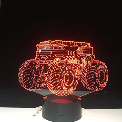 3D Illusion Night Light for Kids 16 Colors with Remote-Led Table LampGifts, Gifts, Birthday Gifts Mountain Bike