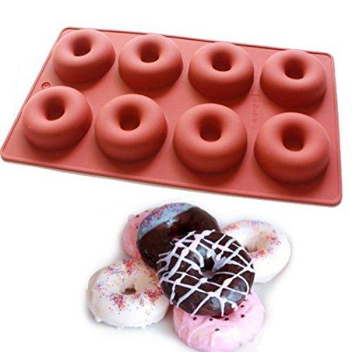 Vancgoods mini 8-cavité beignets muffin moule à biscuits moule à savon silicone gelée polymère argile artisanat moule bricolage