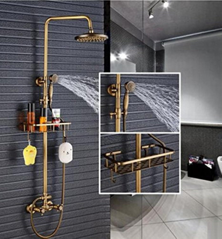 All Retro Copper Round Shower Shower Shower Shower Shower European Wall Pull Shower