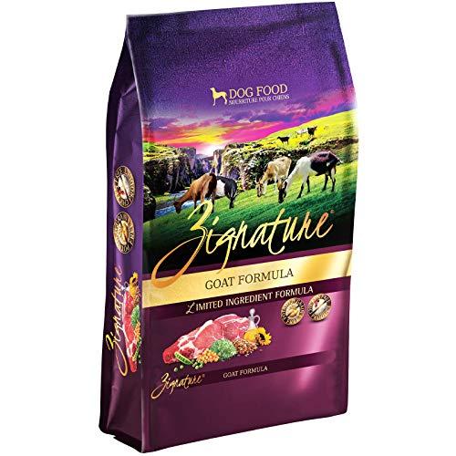 Comida deshidratada ingredientes limitados cabra y sin cereales para perros Zignature