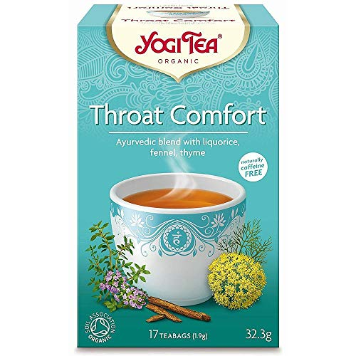 Yogi Tea   Throat Comfort - Organic   6 X 17 Bags