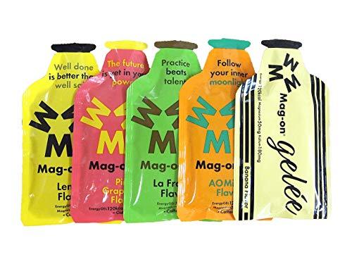 【Mag-on】マグオン エナジージェル 令和新味5種セット 青みかん/ラフランス/レモン/ピンクグレープフルーツ/バナナ 【sotoasoオリジナルセット】【補給食説明書付】