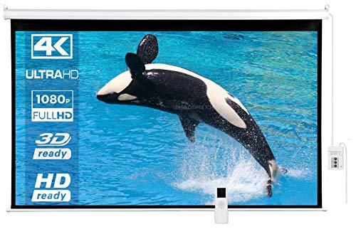 IMAdeMexico Pantalla de Proyeccion Electrica 120″ Formato Tipo Alta Definicion HD 16:9 Gain 1.3 (120…