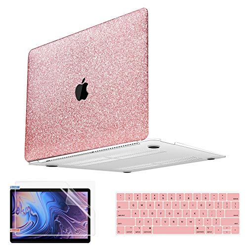 MacBook Pro 16 Inch Case 2021 2020 2019 Release A2141, PU Leather Macbook Pro Case, Hard Shell Case & Keyboard Cover & Screen Protector & Touchpad Cover, Laptop Case Compatible with MacBook 16 inch