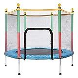 Generisc BNB Products Kinder Trampolin Blau, Indoor/Outdoor, Durchm. 140cm, extra stabil und sicher