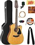 Takamine GD30CE12 12-String Dreadnought Cutaway Acoustic-Electric Guitar - Natural Bundle with Hard Case, Cable, Tuner, Strap, Strings, Picks, Austin Bazaar Instructional DVD, and Polishing Cloth