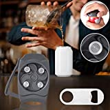 Go Swing Can Opener-Manual Smooth Edge Can Opener, Safety Easy Cut Topless Can Opener with Bottle Opener, Effortless Opener for 8-19 OZ Beverage Cans for Household Kitchen