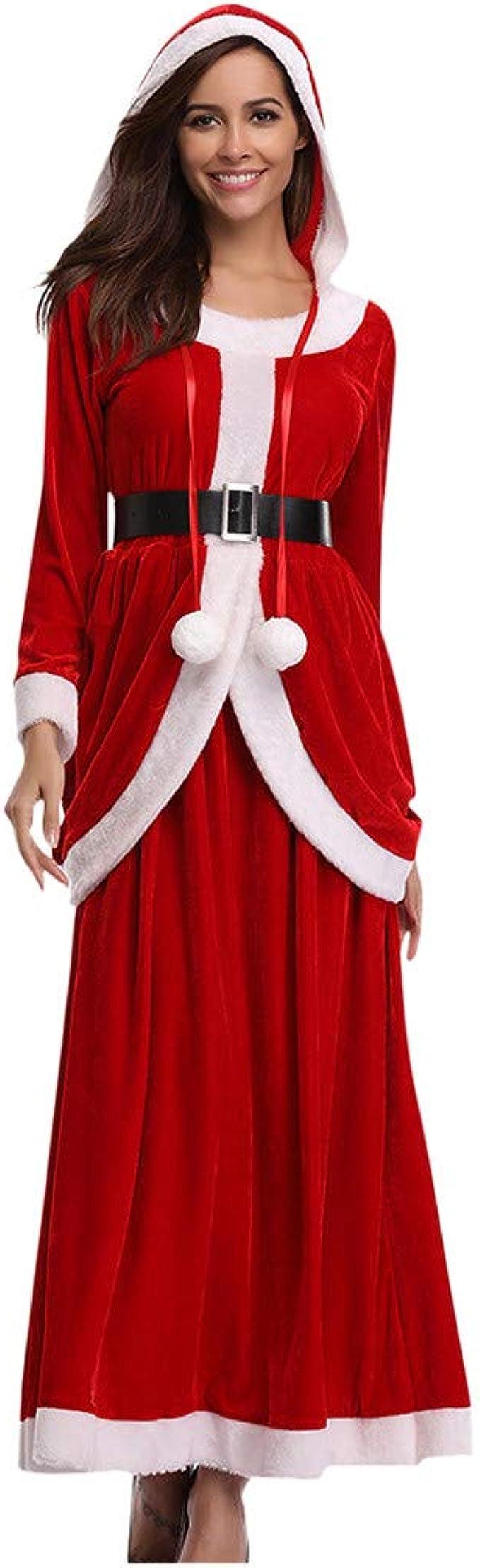 Transwen Weihnachtskostüme Damen Sexy X Mas Kleider Partykleid ...