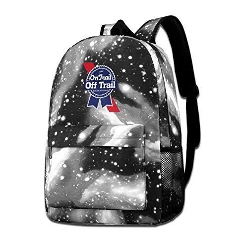 IUBBKI Mochila lateral negra Mochilas informales Pabst Blue Ribbon Beer Backpack Starry Sky Multi-Function Bookbag Laptop Shoulder Bag for Teens Boys Girls Gray