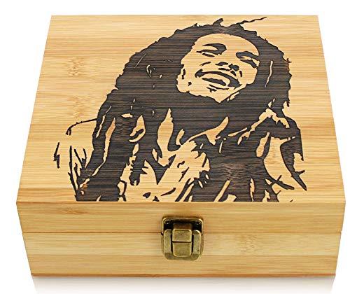 Stoners Bamboo Wooden Stash Box with Rolling Tray, Large Size Bamboo Storage Box, Neat Design stash Box, Smoking Accessories Organizer