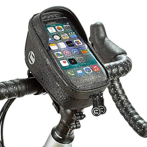 WOTOW Bolsa de Montaje en teléfono para Bicicleta, Soporte para teléfono con Manillar de Bicicleta a Prueba de Agua,Bolsa con Pantalla táctil, Correa Ajustable Reflectante para teléfonos de hasta 7,4