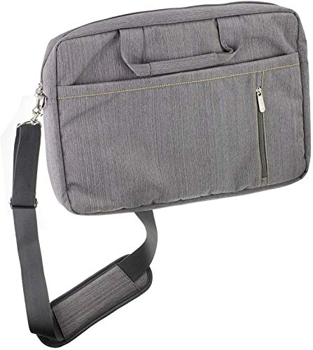 Navitech Grey Premium Messenger/Carry Bag Compatible With The FUJITSU Notebook LIFEBOOK E559