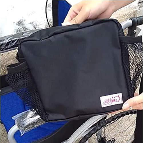 WFSH Bolsa para silla de ruedas/Bolsas de andador/Apoyabrazos Organizador lateral - Bolsa de silla de ruedas manos libres para ancianos, personas mayores; Discapacitado Portátil