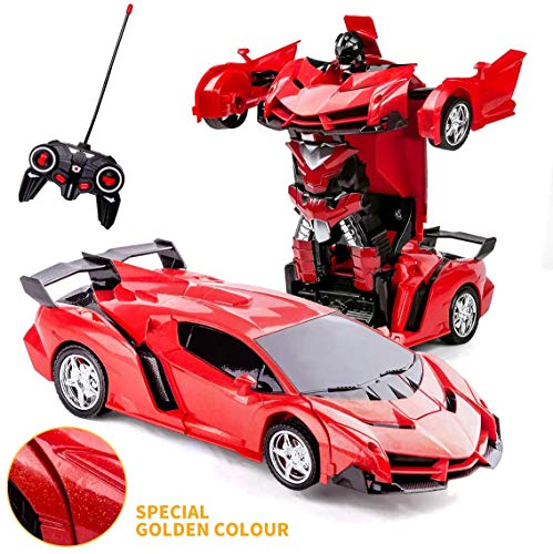 Transforming Toys - Coche de control remoto 2 en 1 con...