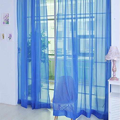 NMSLCNM Tüllvorhang Curtain Reinglas-Mullvorhang mit Stangentyp Voile Gardinen Gardinen mit Ösen Verdunkelungsvorhang fur Schlafzimmer Wohnzimmer, Schlafzimmer Vorhang mit verdeckten Schlaufen