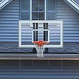 PROGOAL Basketball Hoop Roof Mount, Includes 48' Crystal-Clear Acrylic Backboard, Durable Steel Universal Bracket and Double Spring Breakaway Rim with Net