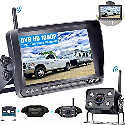 Emmako Digital Wireless Backup Camera and 7'' Monitor System For RV/Truck/Trailer/Camper,Upgraded Newest Camera For True Color