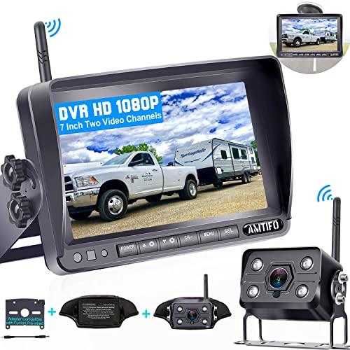 AMTIFO A7 HD 1080P Digital Wireless Backup Camera with 7 Inch DVR