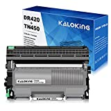 Kaloking Compatible Toner Cartridge and Drum Unit Replacement for Brother TN450 TN420 TN-420 DR420 for DCP-7065DN HL-2270DW HL-2240 MFC-7360N MFC-7860DW Intellifax 2840 Printer (Black, 1 Drum+1 toner)