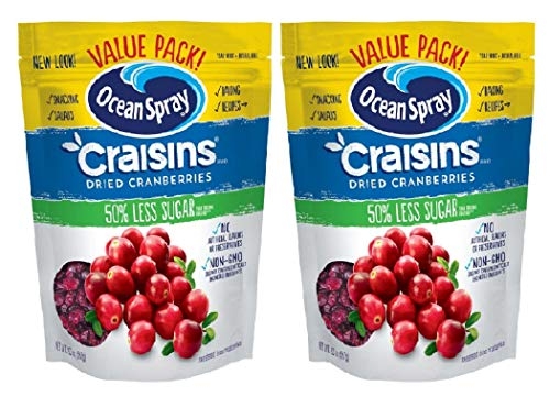 Ocean Spray Craisins Dried Cranberries, Reduced Sugar, 20 Ounce Value Pack (2 Count of 20 Ounce)