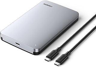 """UGREEN USB C Hard Drive Enclosure for 2.5"""" SATA SSD HDD, Aluminum USB C to SATA Adapter USB 3.1 Gen 2 Support UASP SATA II..."""
