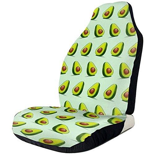 KDU Fashion Auto Seat Cover voorstoelhoezen blauw Avocado 2 stuks beschermer voor autostoel
