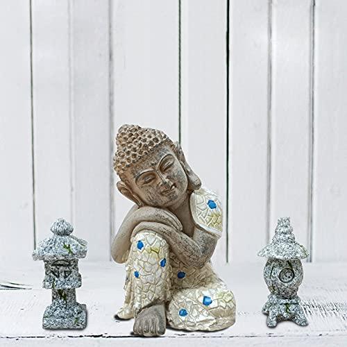 Anner Lily Sleeping Buddha Statue Home Decoration, Garden Figurines Bonsai Decorations, Mini Zen Garden Accessories Outdoor Décor