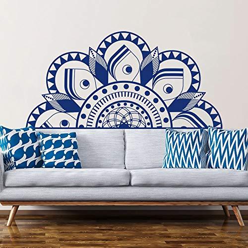 Adesivi Murali per Bambini 140X70Cm Mezza Mandala Adesivo Murale Camera da Letto Comodino Decorazione Carta da Parati Yoga Adesivo Murale Boho Mandala Sticker Adesivo Rimovibile