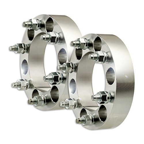 "DPAccessories WA2828E39108/2 2 Billet Wheel Spacer Adapters - 6x139.7/6x5.5-1.5"" Width - M12x1.5-108mm Wheel Spacer Kit"