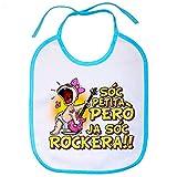 Babero Sóc petita però ja sóc rockera - Celeste