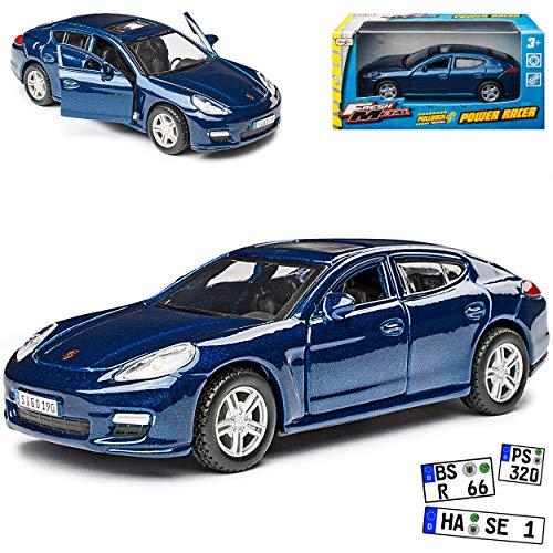 Porsche Panamera S Blau 1. Generation 2009-2016 ca 1/43 Maisto Modell Auto
