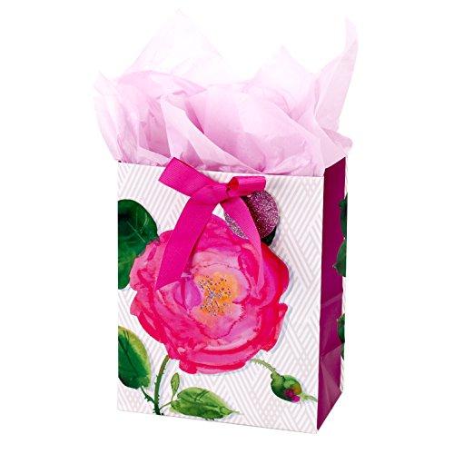 Hallmark 5WDB2040 Bag with Tissue, Gift, Medium Pink Rose