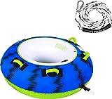 MESLE Towable Tube Package Ringo 54'' con Corda, 1 Persona, Tubo Gonfiabile Donut Fun-Tube, per Bambini e Adulti, Sport Acquatici Tubo di Sci d'Acqua, per Tirare Dietro Barche e Jet-Ski, Farben:Blau