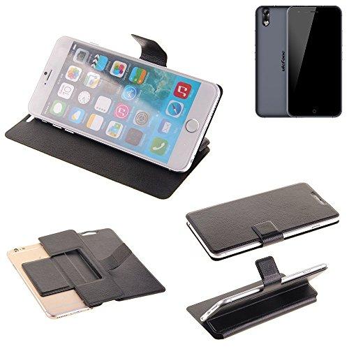 K-S-Trade® Handy Schutz Hülle Für Ulefone Paris Arc HD Flip Cover Handy Wallet Case Slim Bookstyle Schwarz