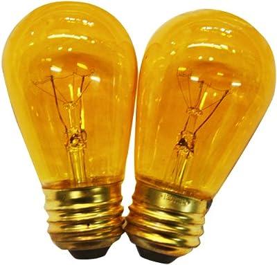 String Light Company Amber 11-Watt S14 Bulbs with E26 Base